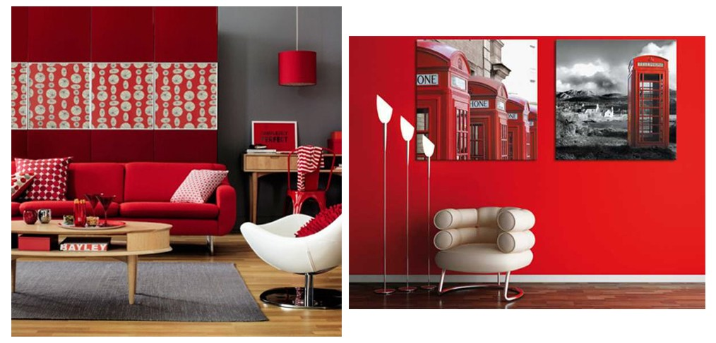 A Touch Of Red At Home Decoration Granito