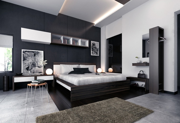 Blackbedroom48 Granito Fascinating Black Bedroom